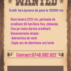Wanted Credit 120000ron
