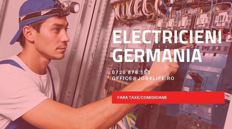ELECTRICIENI GERMANIA JOB4LIFE